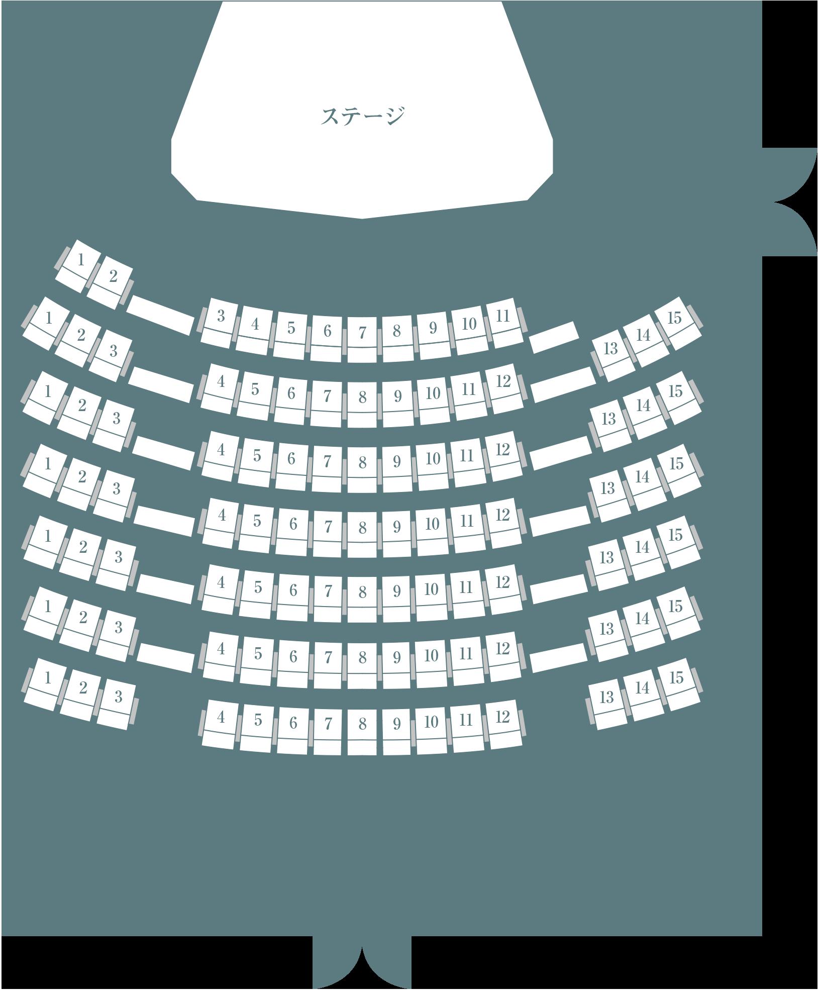 マルタケホール座席表